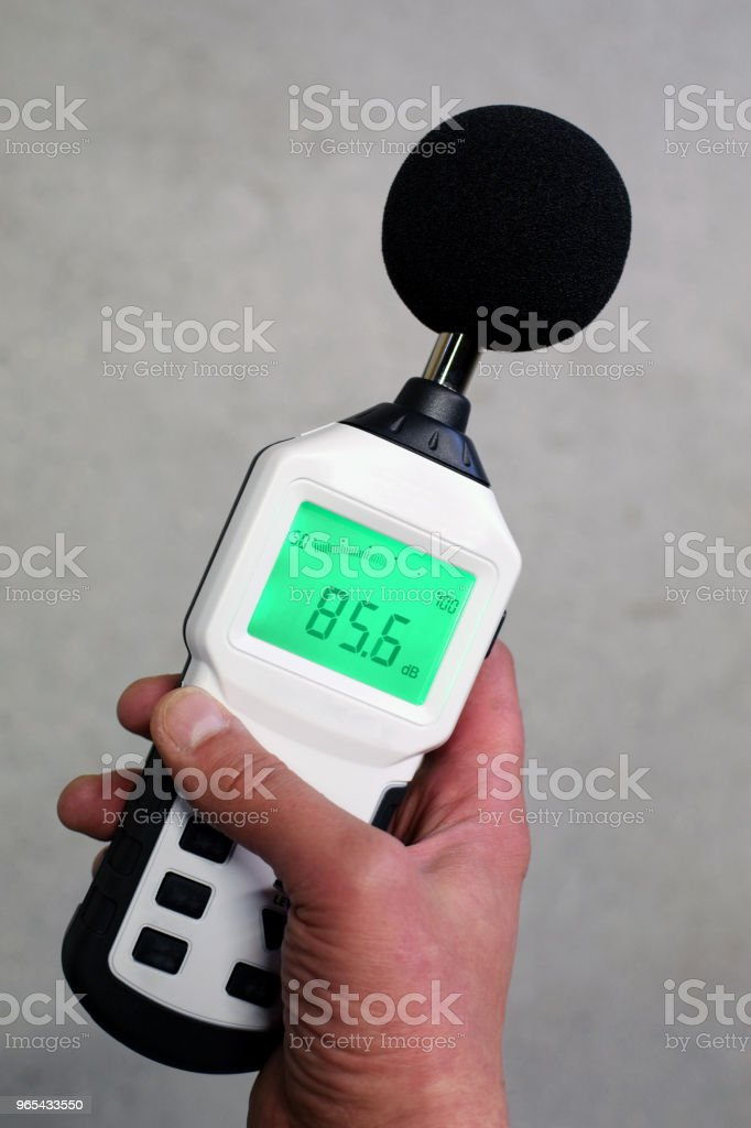 Sound level meter zbiór zdjęć royalty-free