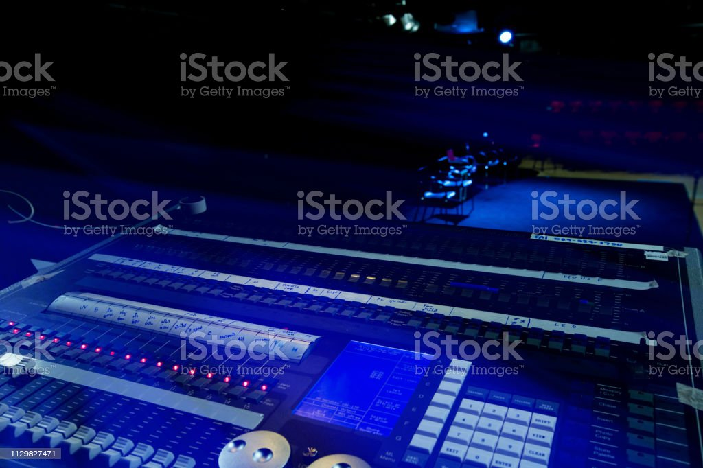 Sound light control device For controlling live performances While...