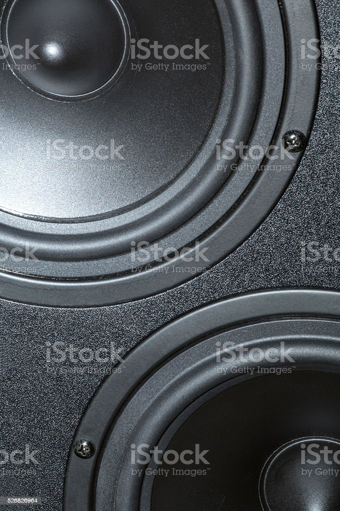 Sound loudspeakers of the speaker system stock photo