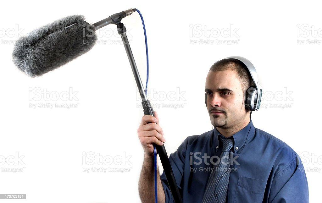 sound man stock photo