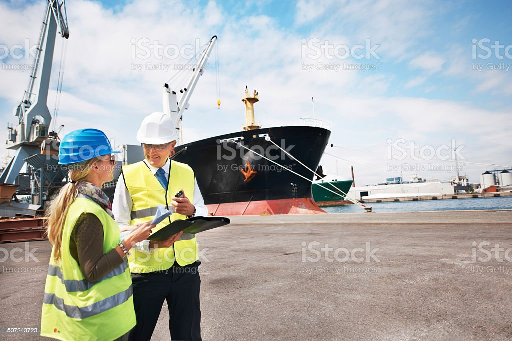 Sound management ensures fair customs trade stock photo