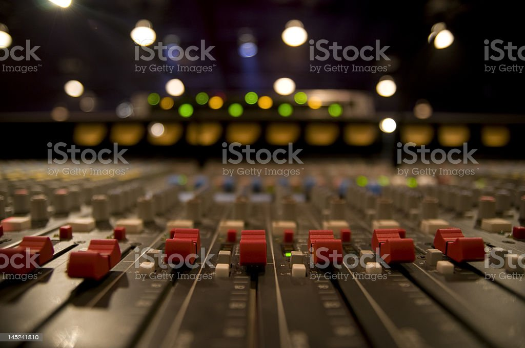 sound mixer board stock photo