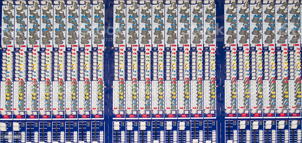 Sound Mixer Board royalty-free stock photo