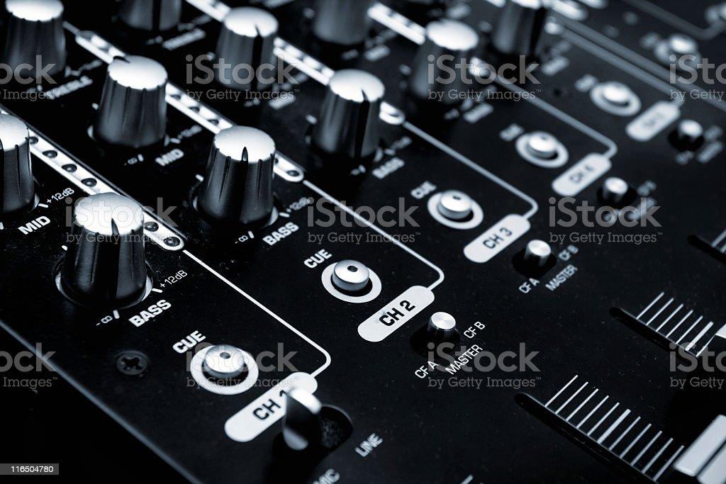 Sound mixer console stock photo