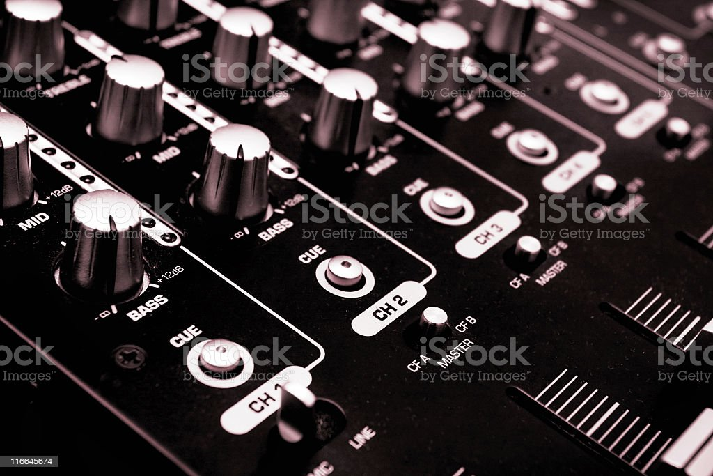 Sound mixer console royalty-free stock photo