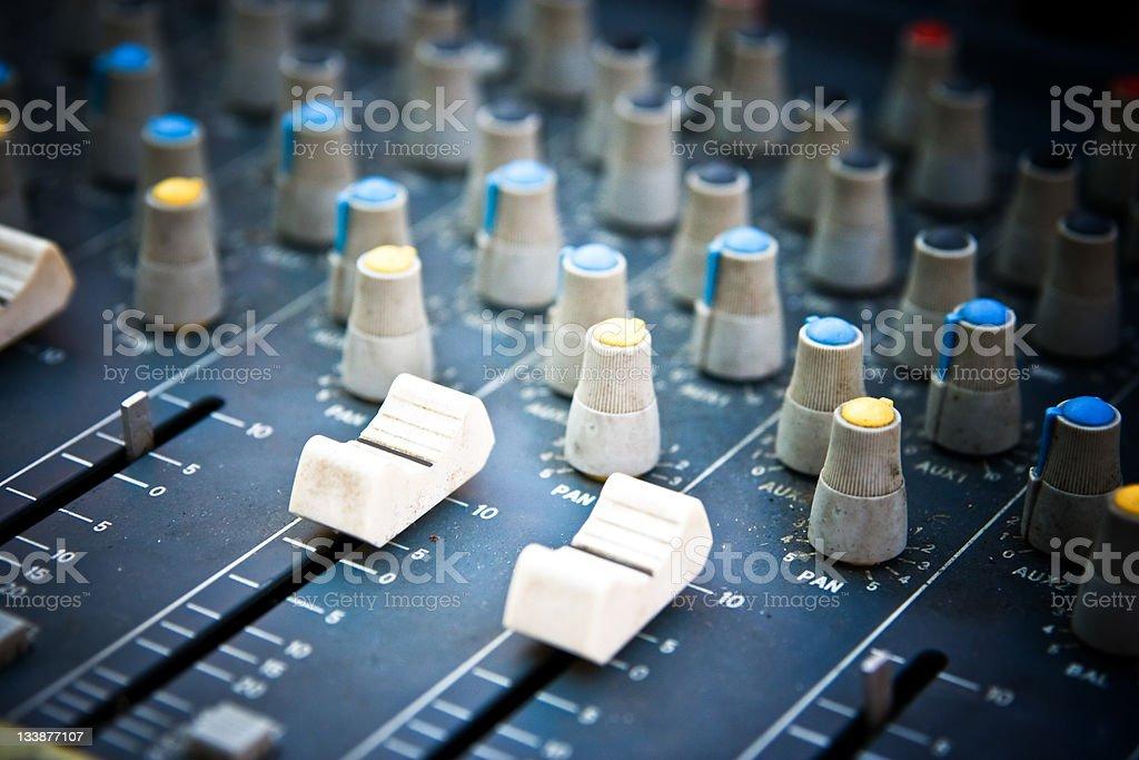 Sound Mixer Macro royalty-free stock photo