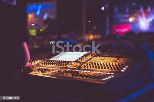 Photo of sound mixer on the live performance