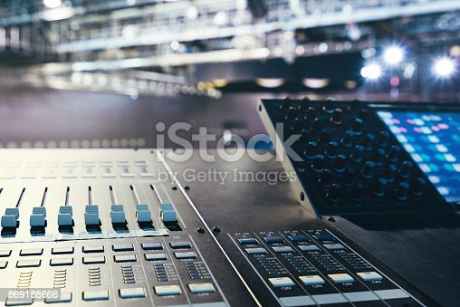 Large show sound controller