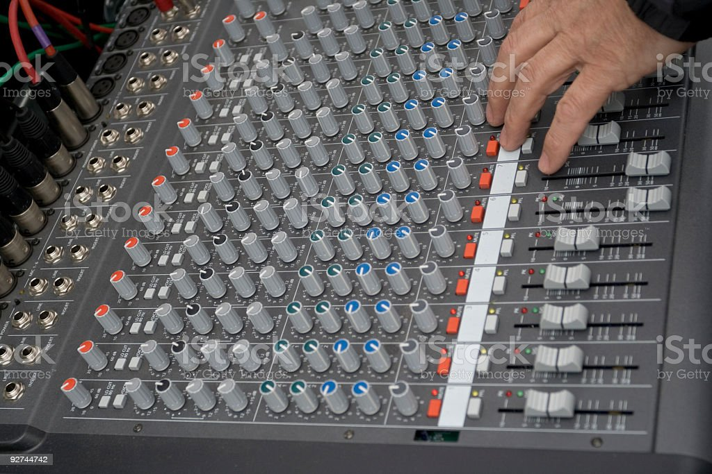 Sound mixer. royalty-free stock photo