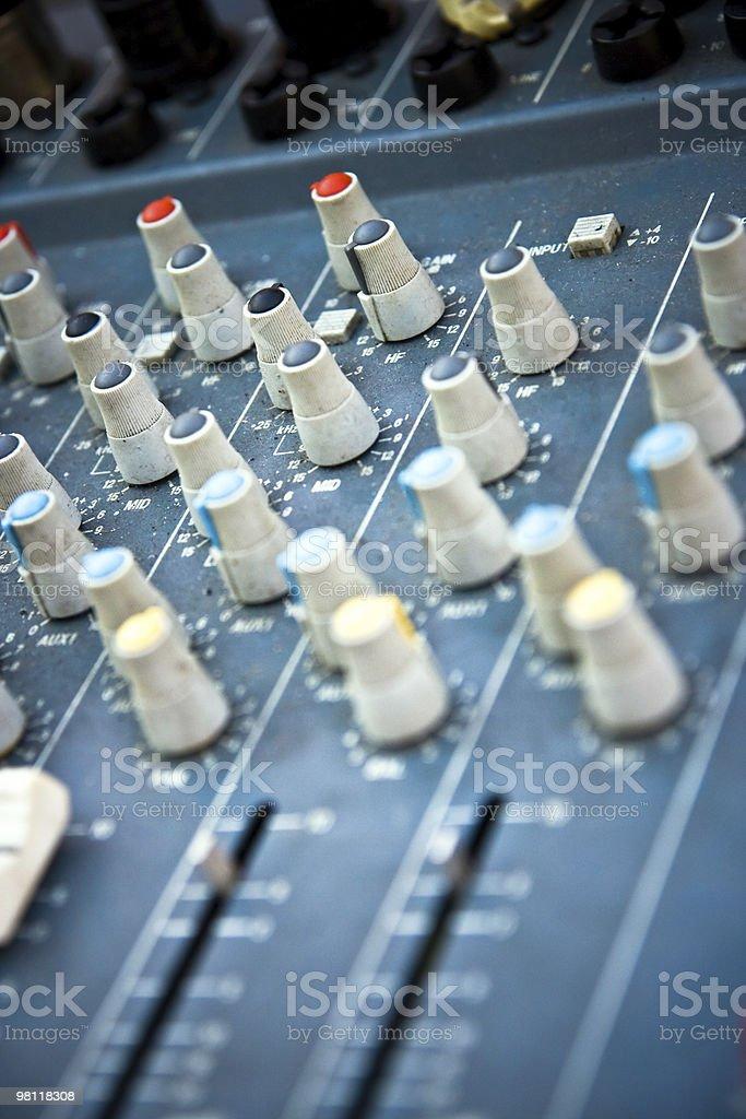 mixer audio foto stock royalty-free