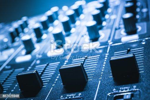 istock sound mixer. recording studio. 857425948