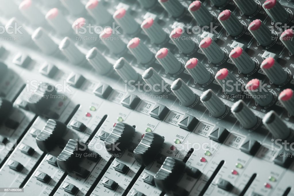 Sound-Mixer. Tonstudio. – Foto