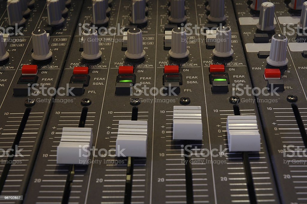 sound mixing board royalty-free stock photo
