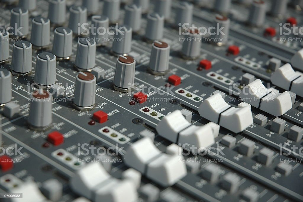 Sound mixing console royalty free stockfoto