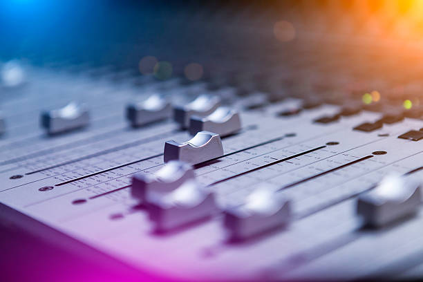 Sound Mixing Sound mixer close-up recording studio stock pictures, royalty-free photos & images