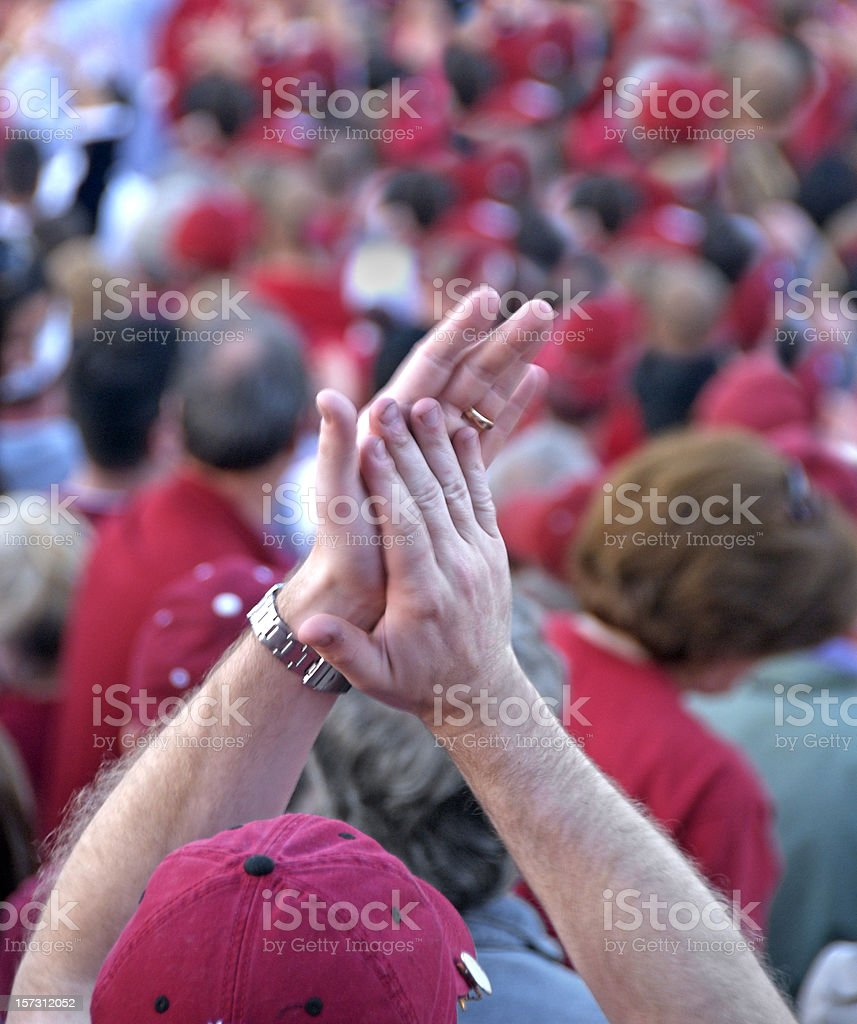Sound of Two Hands Clapping royalty-free stock photo
