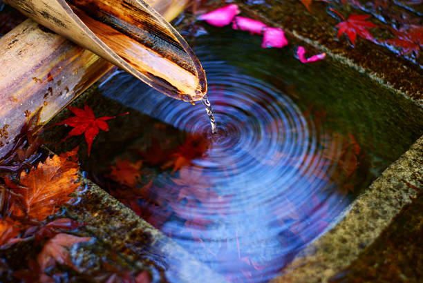 Sound of water Ripple shrine stock pictures, royalty-free photos & images