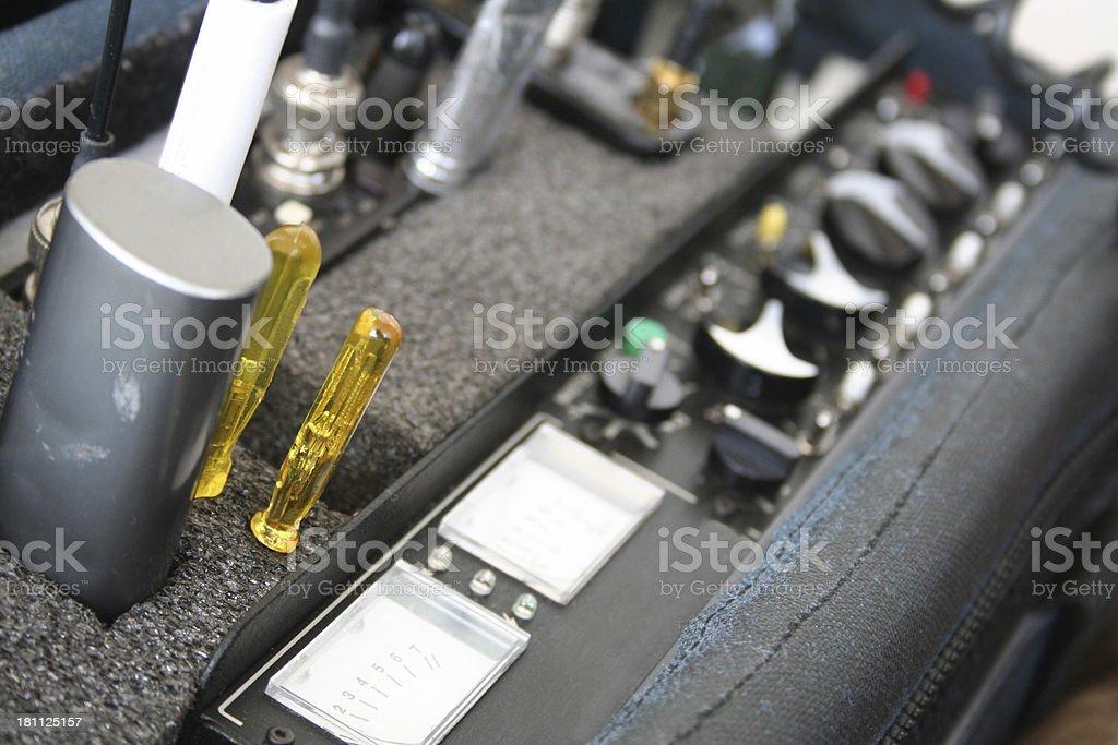Sound recording equipment stock photo