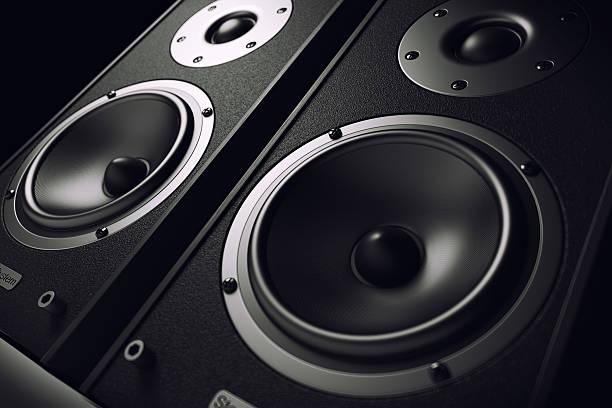 Sound Lautsprecher close-up. Audio-stereo-system – Foto