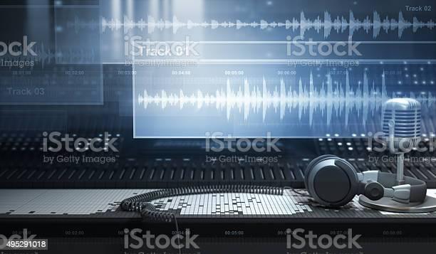 Sound Studio And Tracks Stock Photo - Download Image Now