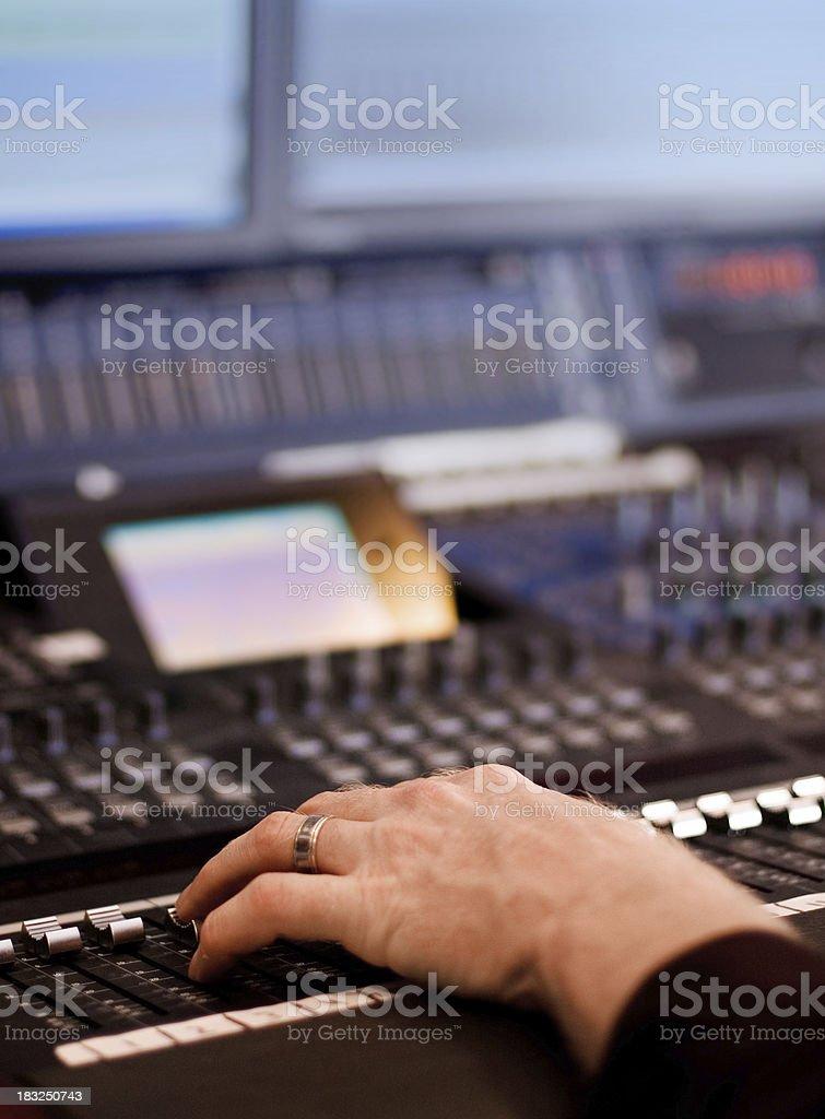 Sound Studio Mixdown royalty-free stock photo