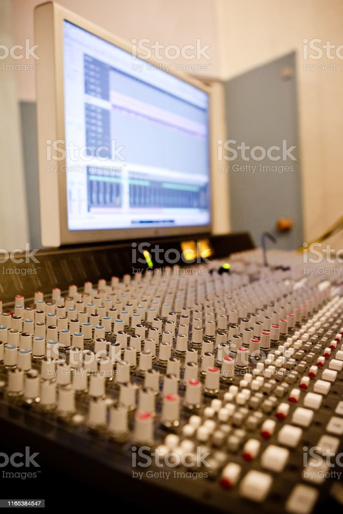 sound Studio with remote control levers and big monitor