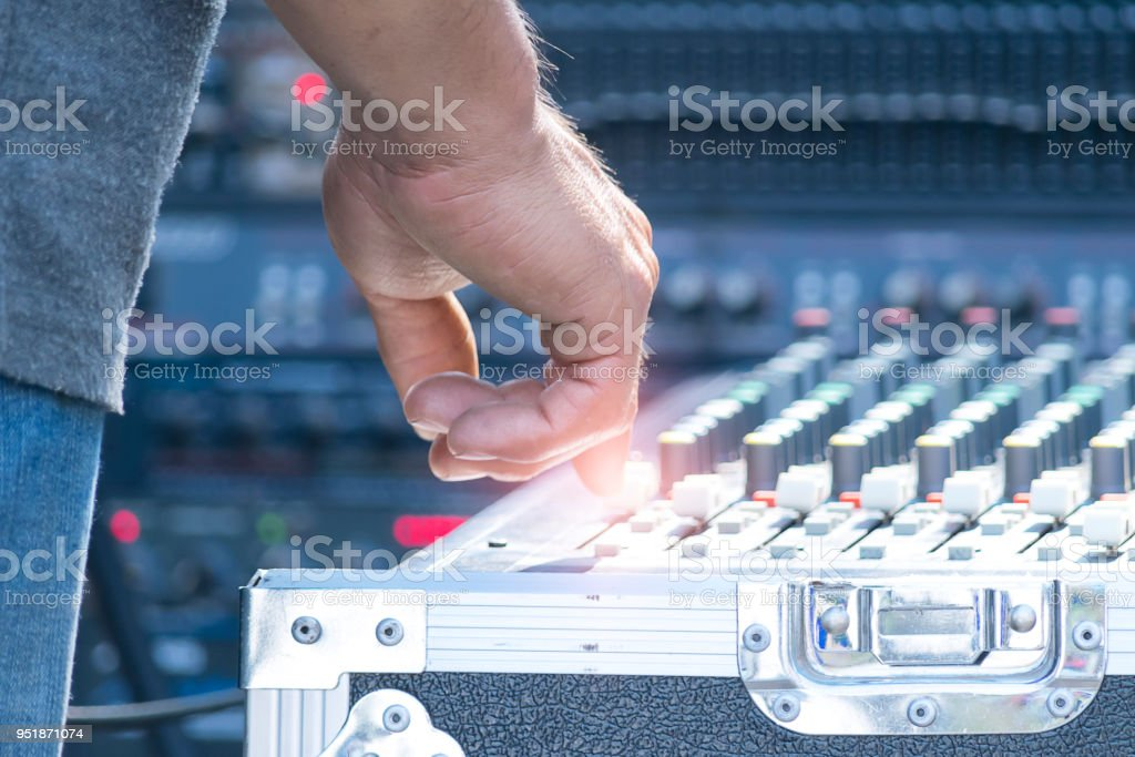 Sound technician stock photo