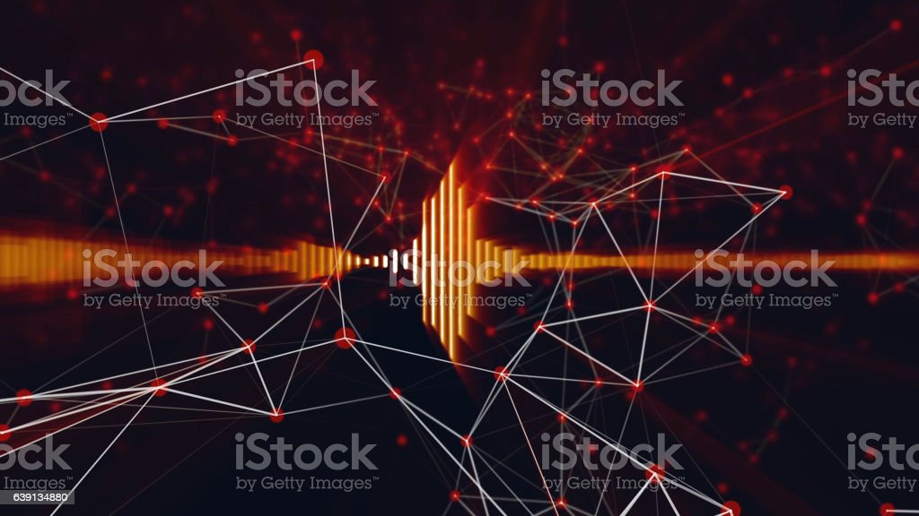 Sound technology background stock photo
