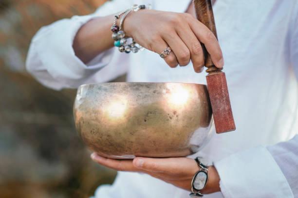 Klangtherapie mit tibetischer Klangschüssel – Foto