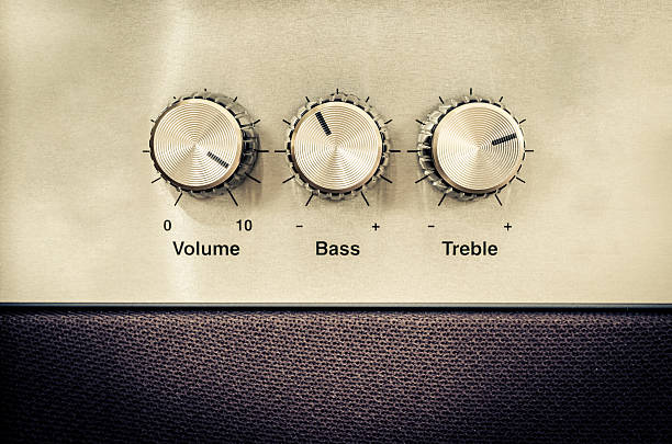 Sound volume controls in vintage style圖像檔