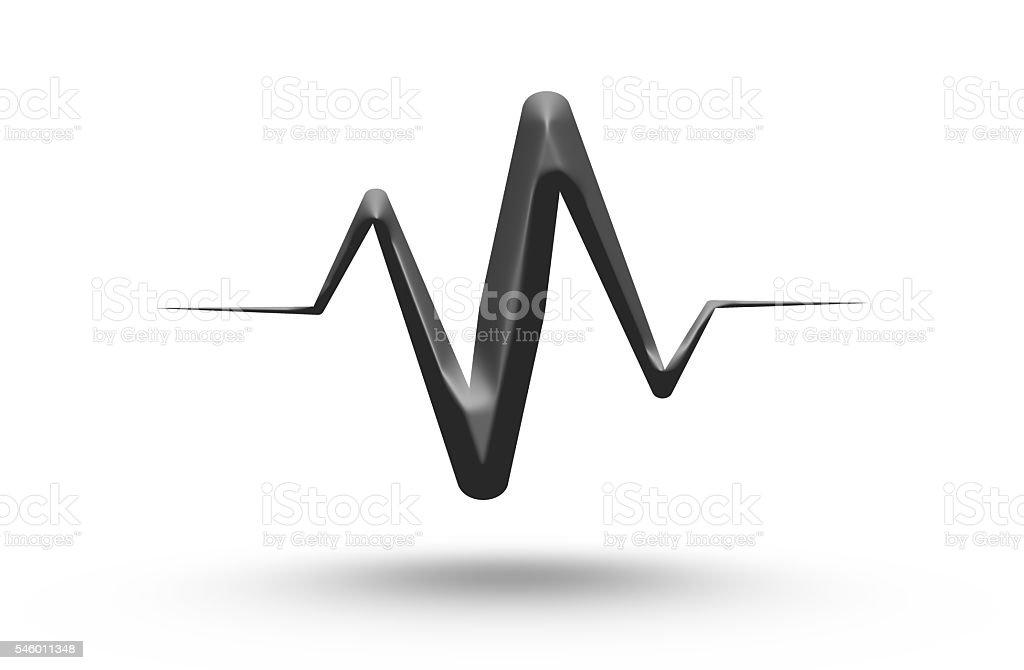 Sound wave design. stock photo