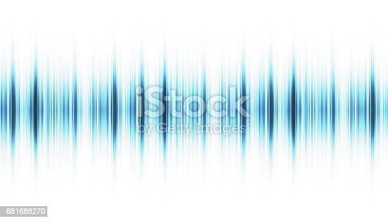 Sound wave isolated on white background