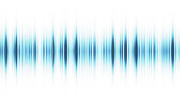 Sound wave isolated on white background stock photo