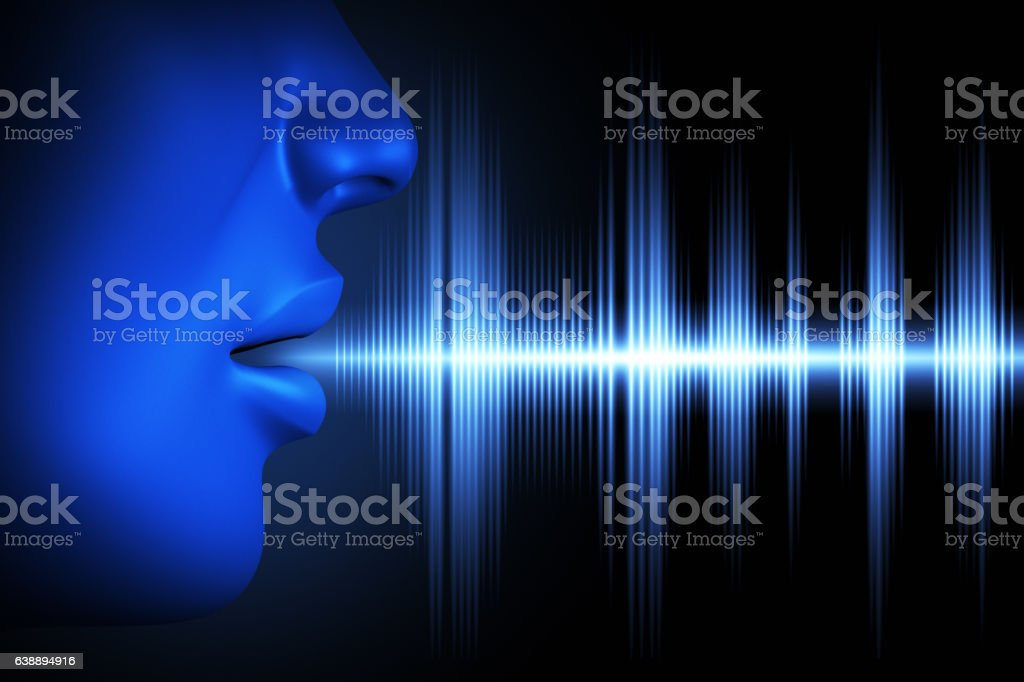 Sound wave of voice stock photo