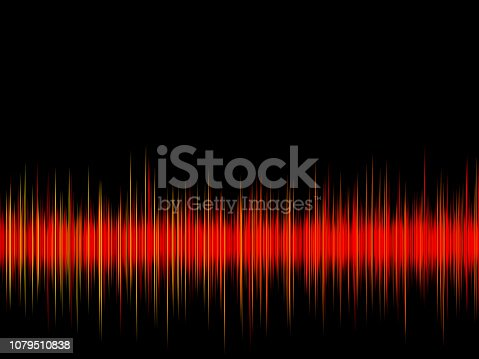 istock Sound wave on the black background 1079510838