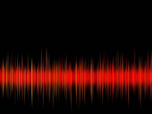onda sonora sobre o fundo preto - imagem tonalizada - fotografias e filmes do acervo