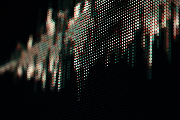 顯示 planel 中陣列中的聲波模式 led 點 - 聲波 個照片及圖片檔