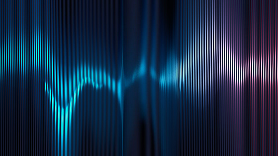 Multi colored sound wave background