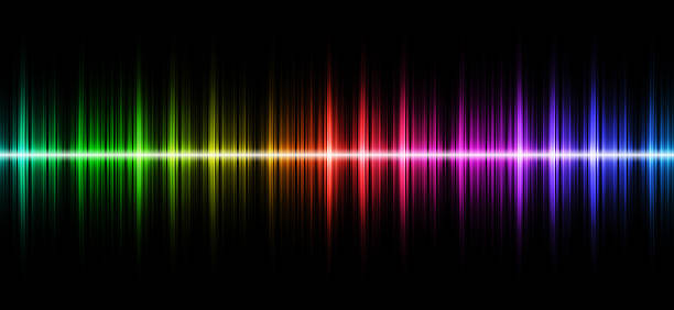 sound wave - audio wave stock photos and pictures