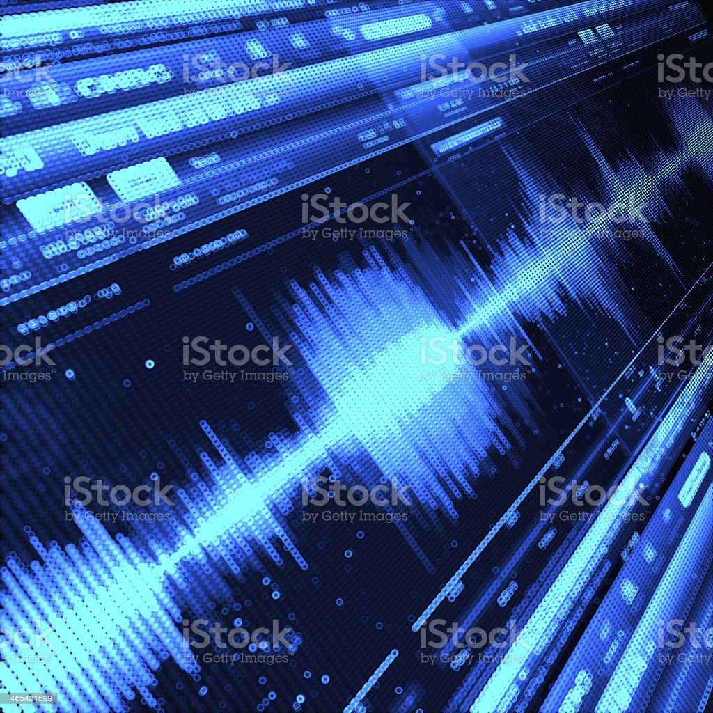Sound Wave royalty-free stock photo