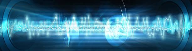 Sound wave stock photo