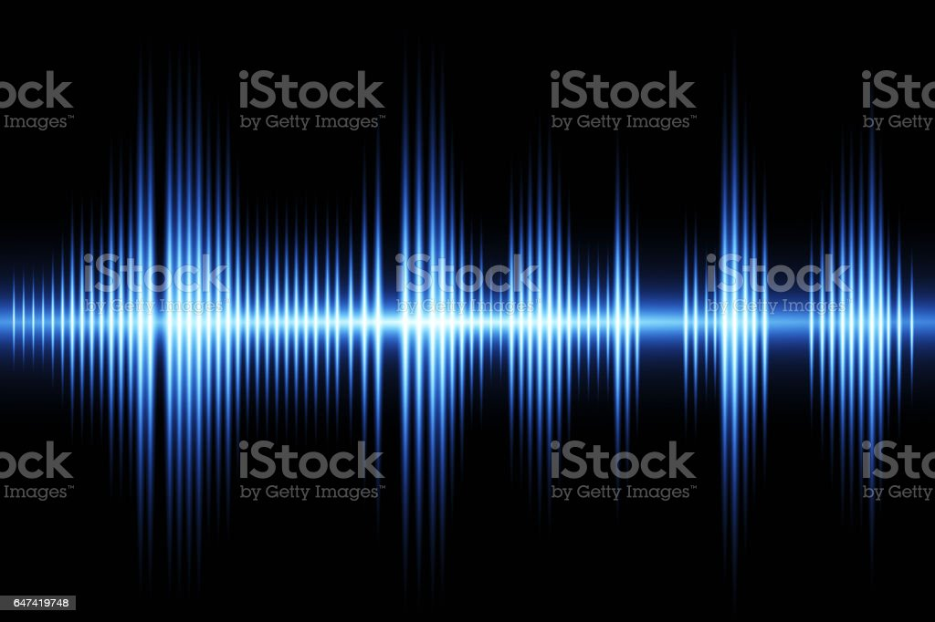 Sound waveform stock photo