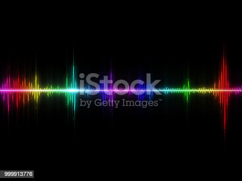 istock Sound waves colorful abstract background 999913776
