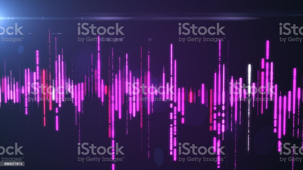 Sound Waves Colorful Light Audio Signal Design Royalty Free Stock Photo