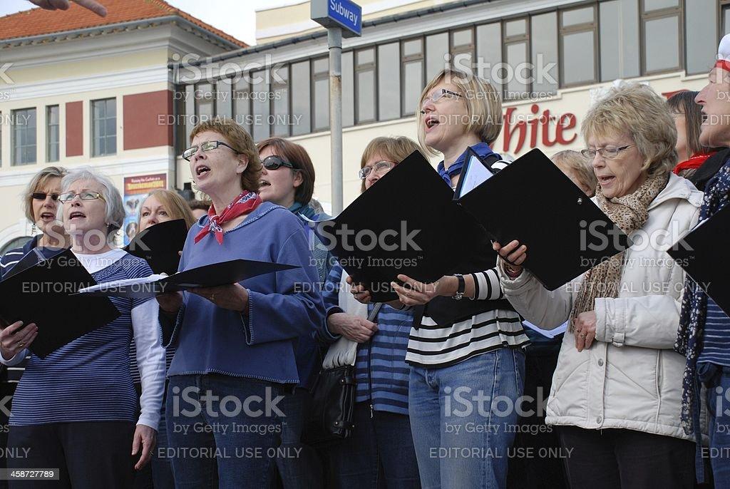 Sound Waves Community Choir, Hastings stock photo