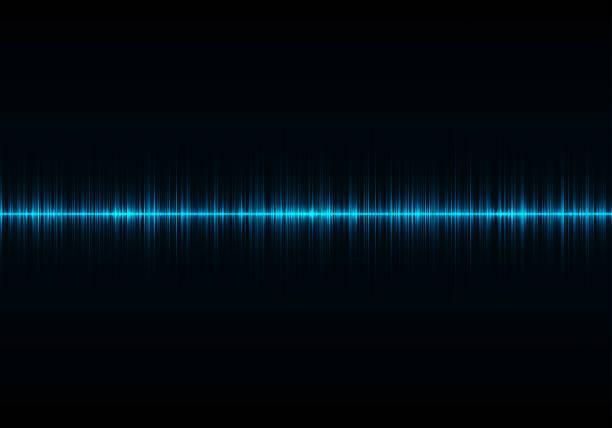聲波振盪發光光、 抽象的技術背景 - 聲波 個照片及圖片檔