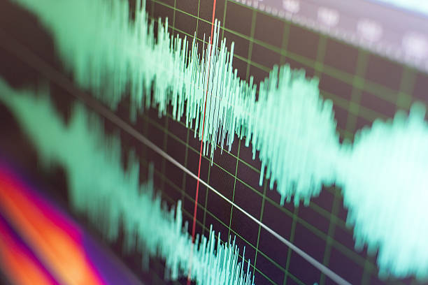 sound waves - audio wave stock photos and pictures