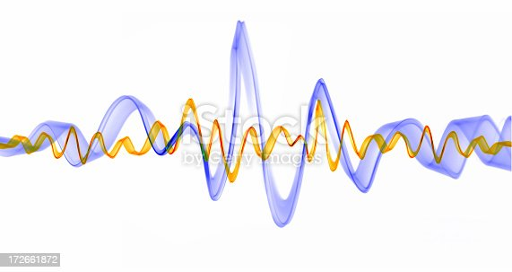 istock Sound waves pulsating in lavender and gold 172661872