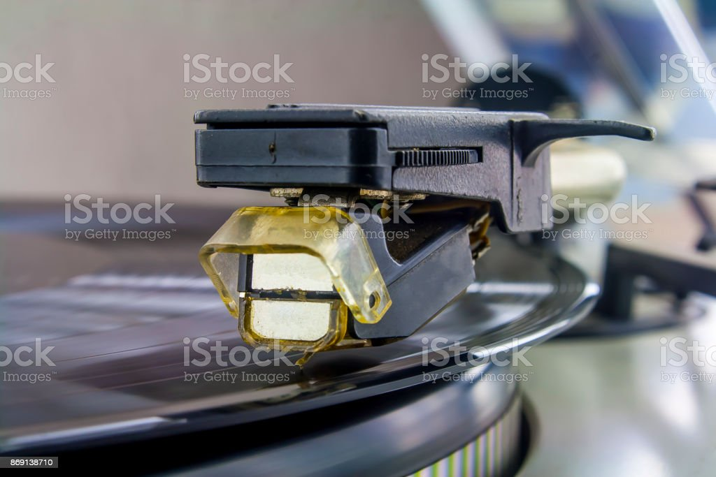 soundbox of turntable stock photo