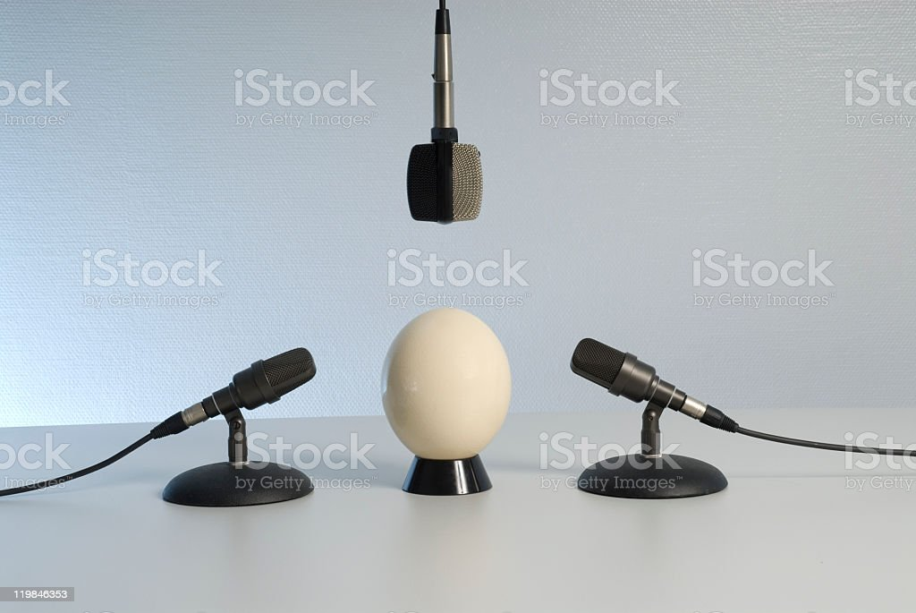 Soundcheck with 3 microphones stock photo